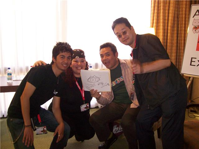 My best friend to the left, me and the creator of Trigun Yoshihiro Nightow at Anime Expo 2009